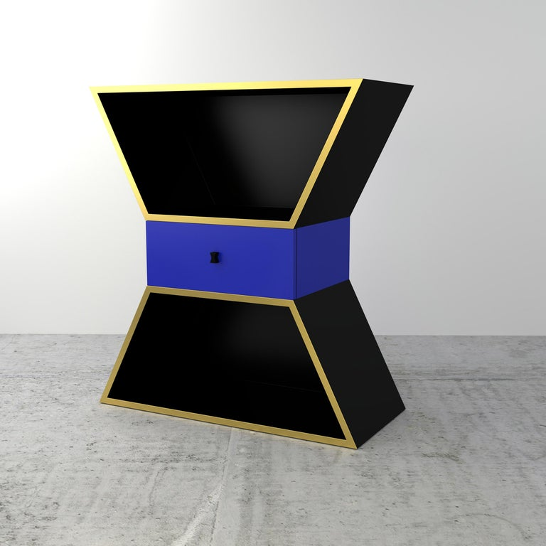 Wood contemporary Apollon cabinet by Chapel Petrassi Dimensions: 90 x 40 x 100 cm Materials: Black lacquered wood   Other colors available  Chapel Petrassi is a contemporary design and manufacturing company based in Paris and Naples founded by