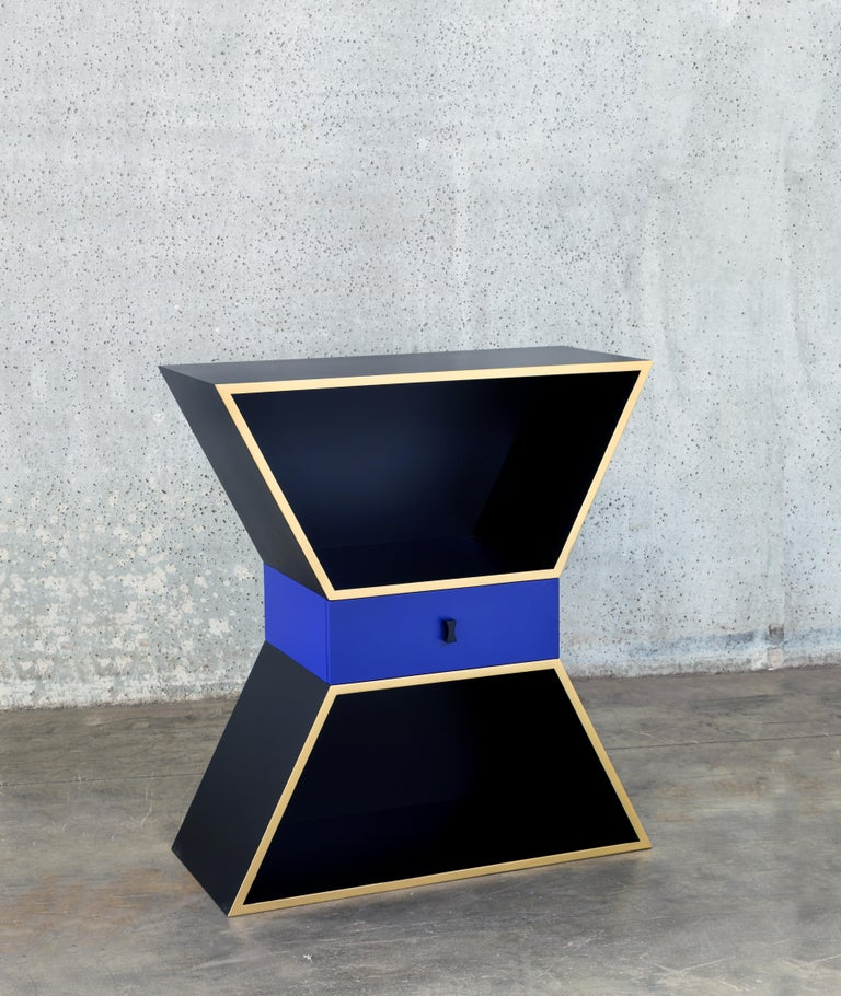 Modern Wood Contemporary Apollon Cabinet by Chapel Petrassi For Sale