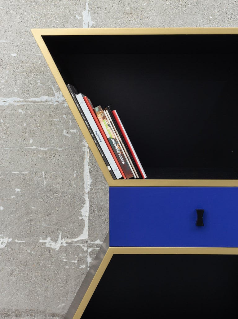 Italian Wood Contemporary Apollon Cabinet by Chapel Petrassi For Sale