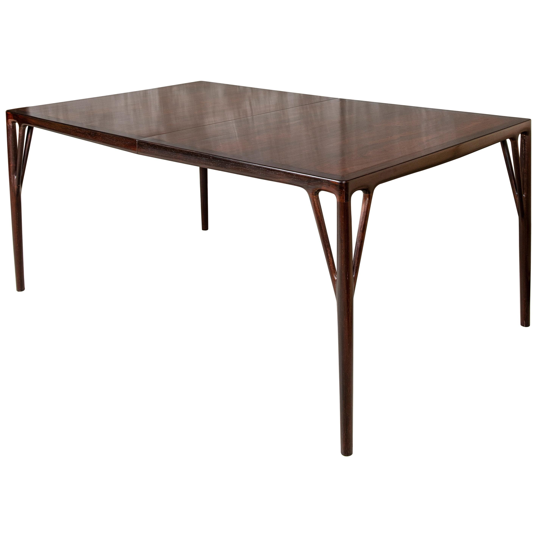 Wood Dining Room Table by Helge Vestergaard-Jensen, Denmark, circa 1960
