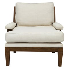 Wood Framed Chair with Loose Back and Seat Cushions