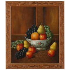 Wood Framed Oil / Canvas Still Life Painting