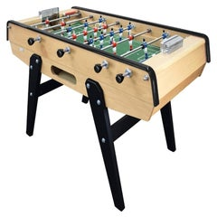 Wood and Green Beechwood Foosball Table, Made in France