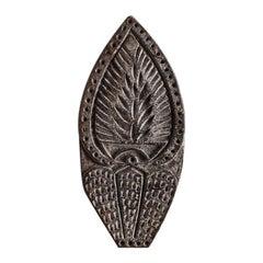 Wood Hand Carved Block Print Fabric Stamp Jaipur Sanganeri India