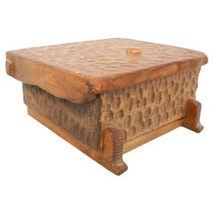 Wood Handcarved Box After Alexandre Noll
