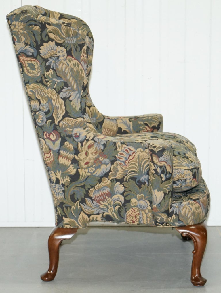 Wood And Hogan New York Blenheim Wingback Walnut Armchair