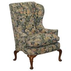 Wood & Hogan New York Blenheim Wingback Walnut Armchair William Morris
