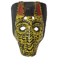 Wood Hyena Mask