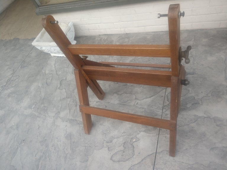 American Wood & Iron Adjustable Drafting Table, circa 1950