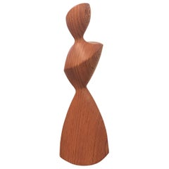 Wood Laminated Abstract Sculpture of a Woman, 1960s
