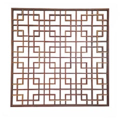 Wood Lattice Panel, Square, Contemporary