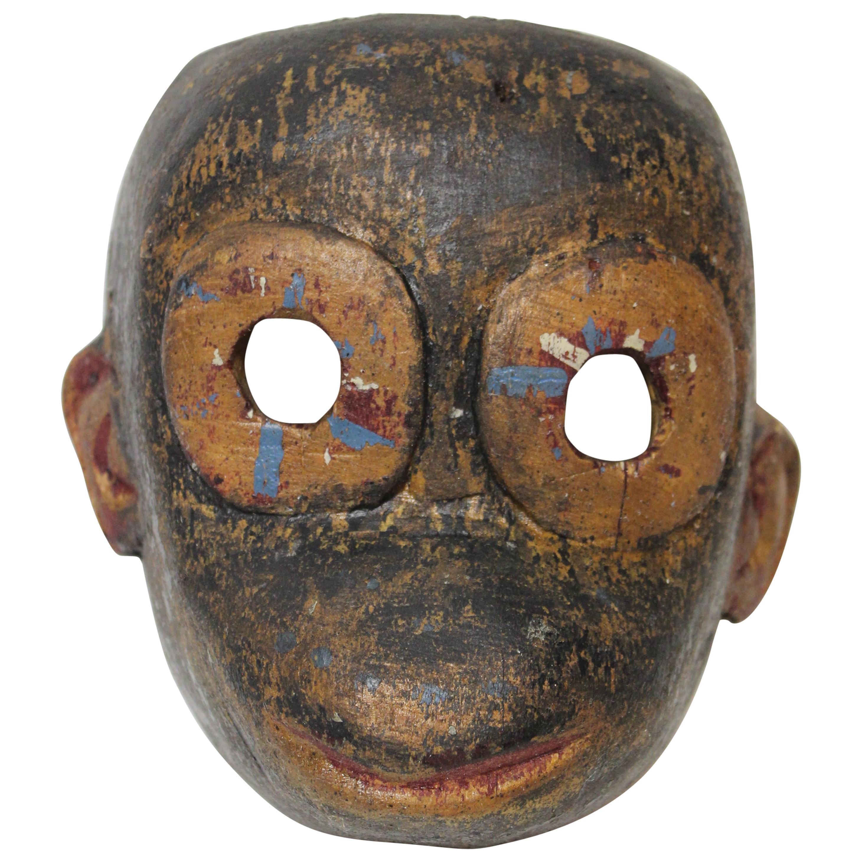 Wood Monkey Mask