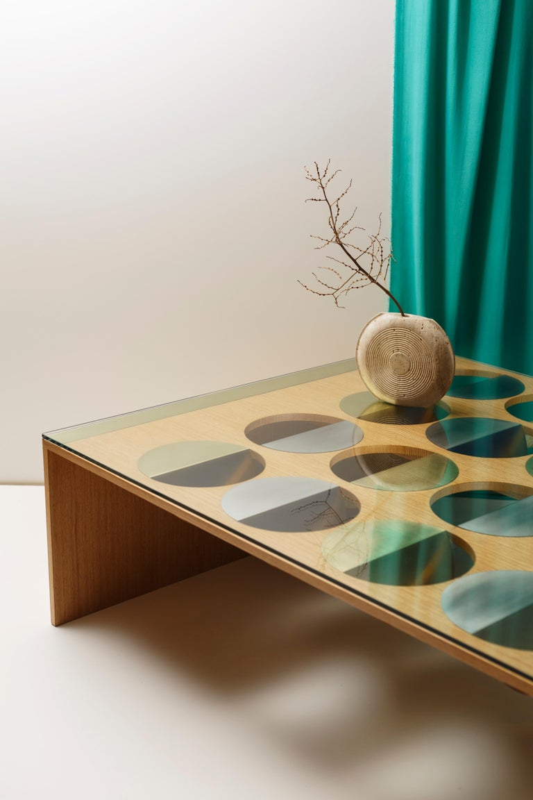 Modern Wood Moonland Coffee Table by Ana Volante Studio For Sale