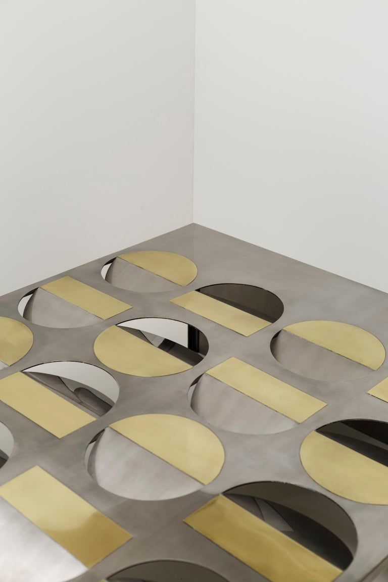 Glass Wood Moonland Coffee Table by Ana Volante Studio For Sale
