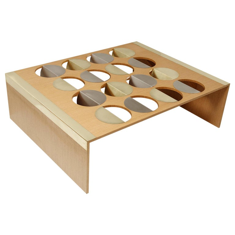 Wood Moonland Coffee Table by Ana Volante Studio For Sale