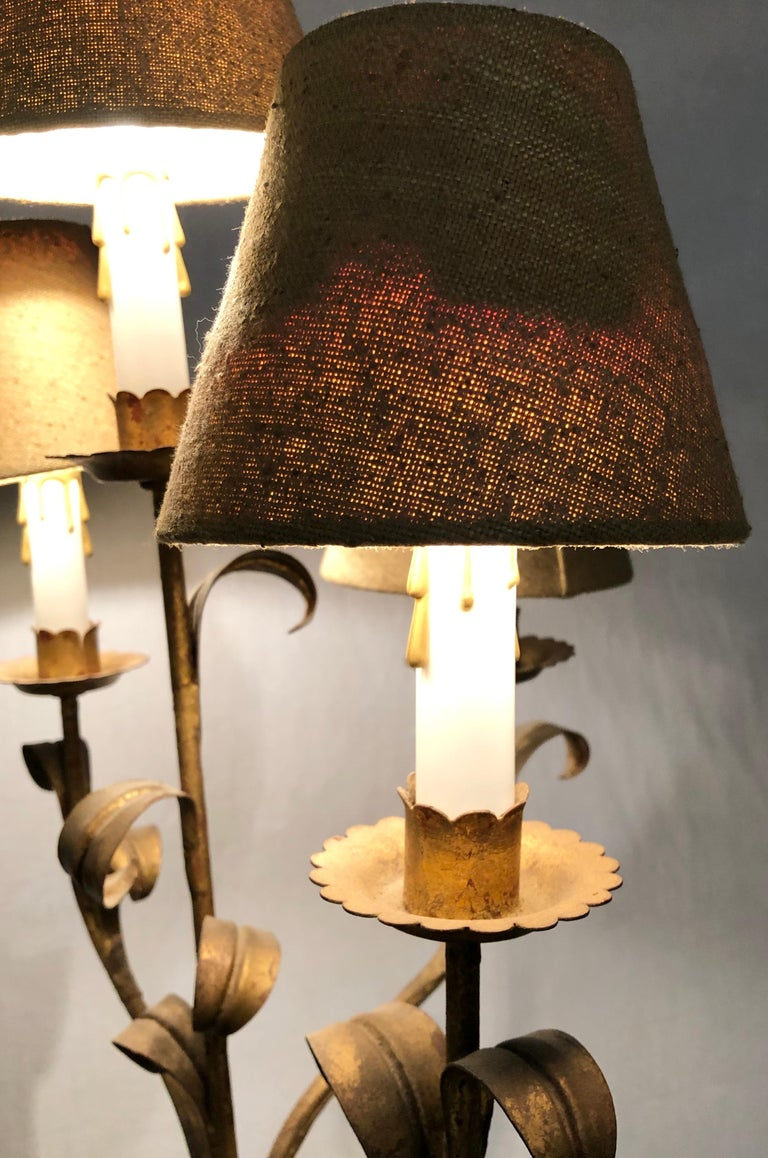 Wood Nubian Paint Decorated Standing or Table Lamp For Sale 9