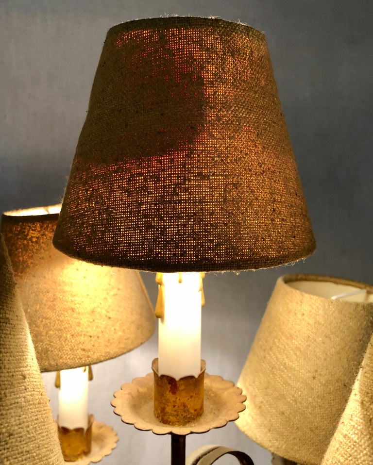 Wood Nubian Paint Decorated Standing or Table Lamp For Sale 10