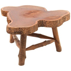 Wood Organic Coffee Table, 1950, France, Brown Color, Polishes Oil Finished