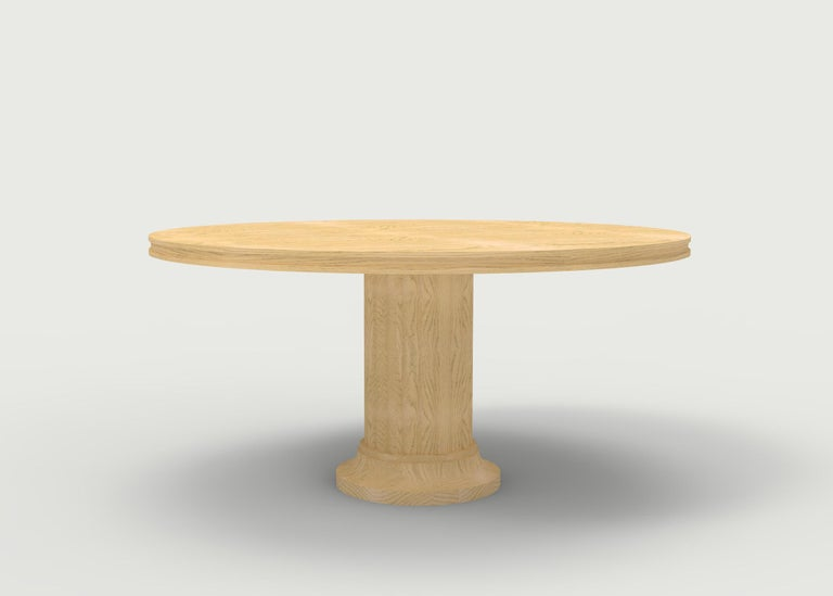 The Harmon dining table is an elegant and styled piece - it can be used in both a dining room or conference room. Wood top and base with Classic detailing and smartly finished in natural wood tone.  Price is for table in primary photo in standard