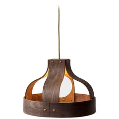 Wood Pendant Light, Bound by Carnevale Studio, Walnut
