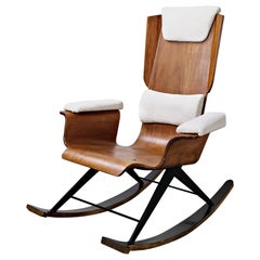 Wood rocking chair by Carlo Ratti - Italy 1960s