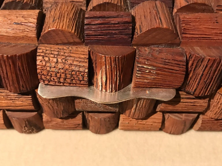 Late 20th Century Wood Sculptural Box For Sale