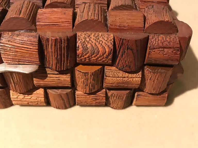 Wood Sculptural Box For Sale 1