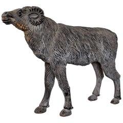 Wood Sculpture Depicting a Mutton