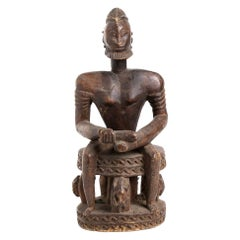 Wood Sculpture of a Male Figure