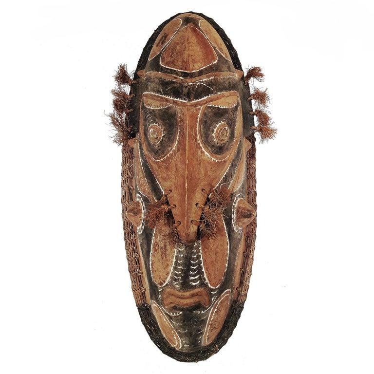 Wood Sepik Mask, Murik Lakes, Papua New Guinea For Sale 4