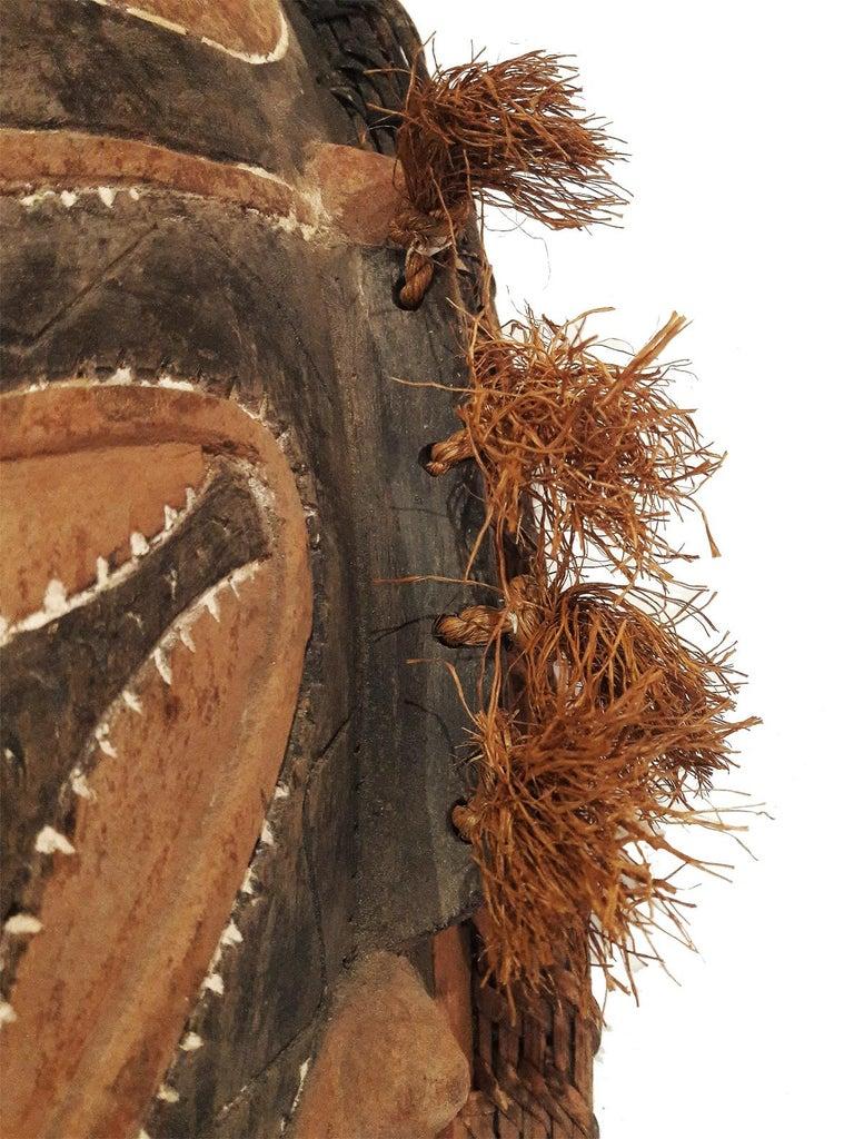 Late 20th Century Wood Sepik Mask, Murik Lakes, Papua New Guinea For Sale