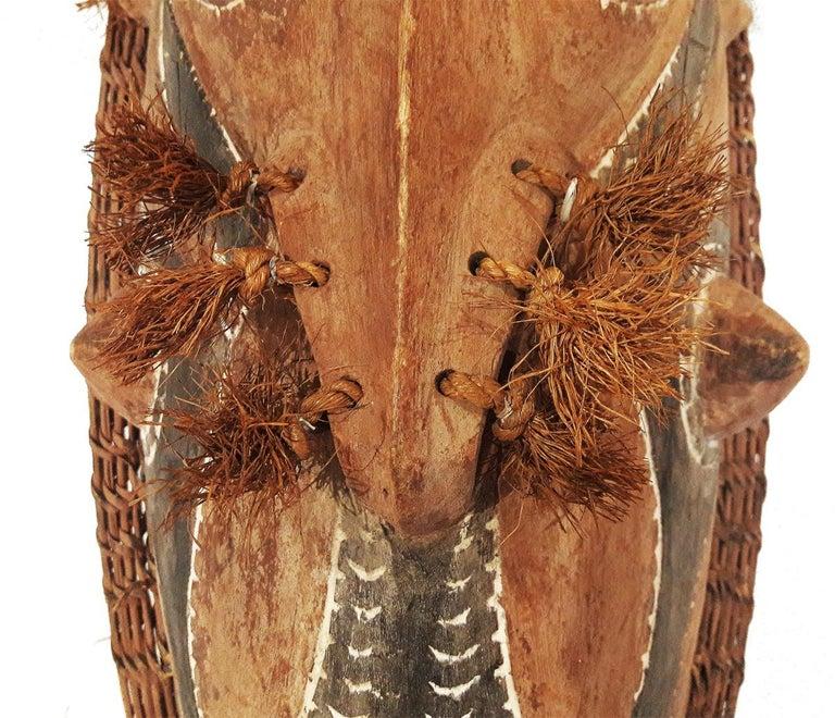Cane Wood Sepik Mask, Murik Lakes, Papua New Guinea For Sale