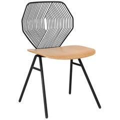 Wood Side Chair, Modern Minimalist Design in Black by Bend Goods