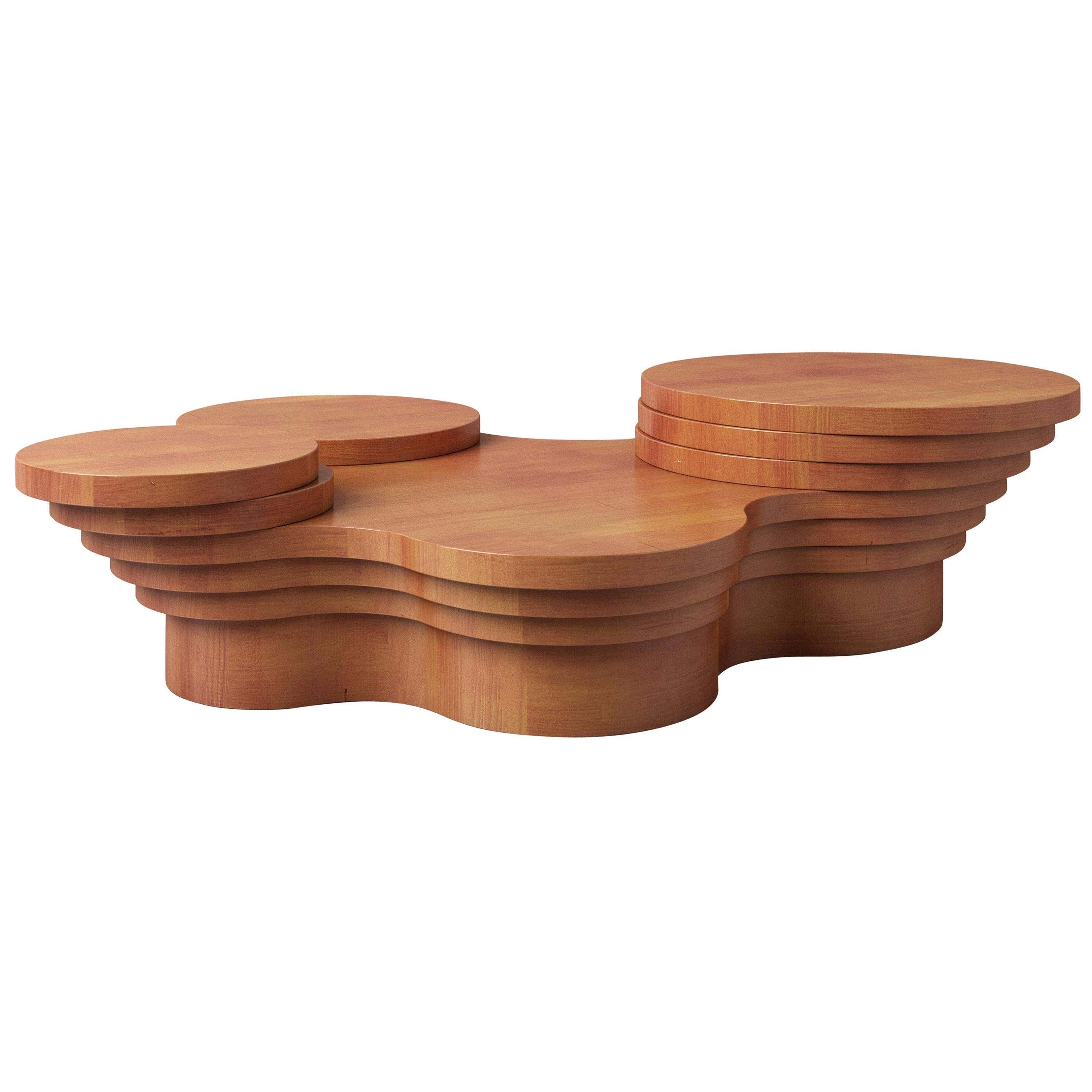 Wood Slice Me Up Sculptural Coffee Table by Pietro Franceschini