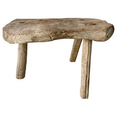 Wood Stool from Mexico, Early 1900s