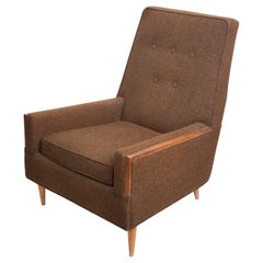 Mid Century Modern Wood Trim Lounge Chair, 1969, USA