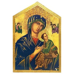 Wood Wall Hanging of Maesta Madonna and Christ Child after Cimabue, Italy