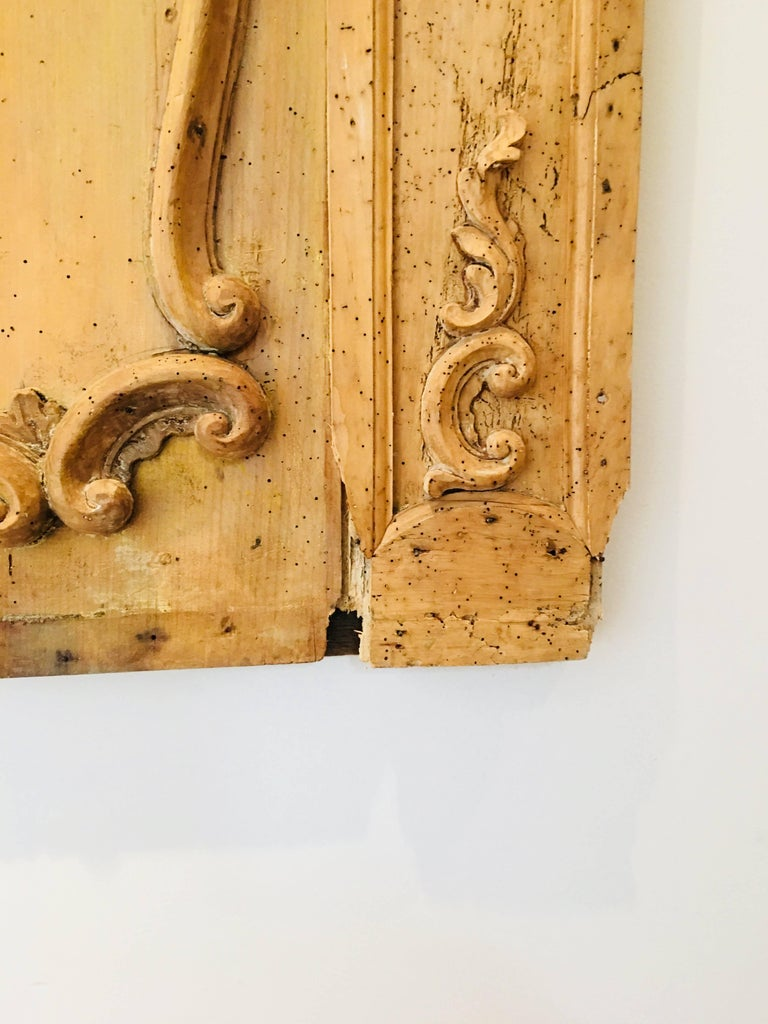 Carved Belgian 18th Century Wood Wall Panel For Sale 8