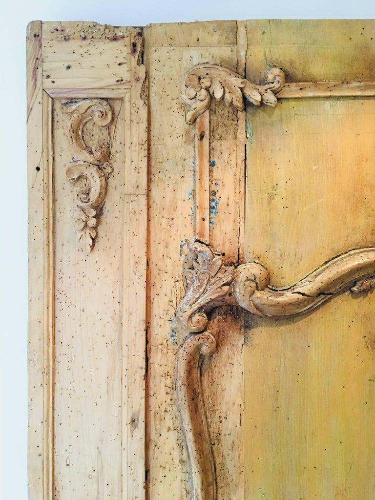 Carved Wood Wall Panel  Brussels, Belgium, 1780s Measures: 41