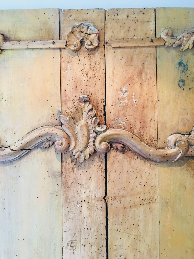 Carved Belgian 18th Century Wood Wall Panel In Good Condition For Sale In Bridgehampton, NY