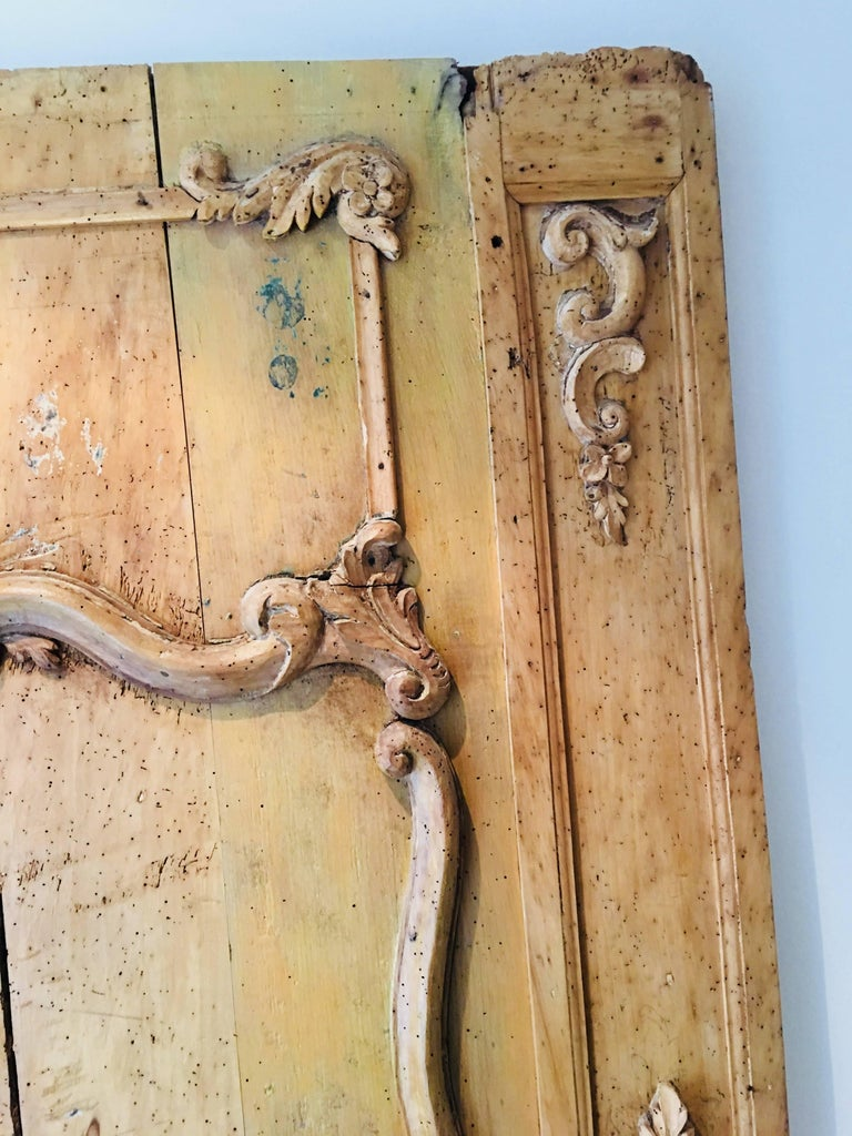 Late 18th Century Carved Belgian 18th Century Wood Wall Panel For Sale