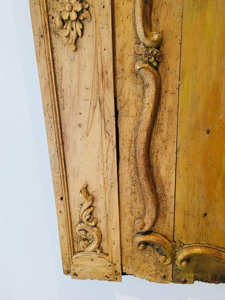 Carved Belgian 18th Century Wood Wall Panel For Sale 4