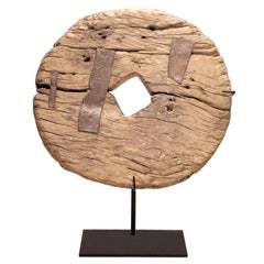 Wood Wheel on Stand