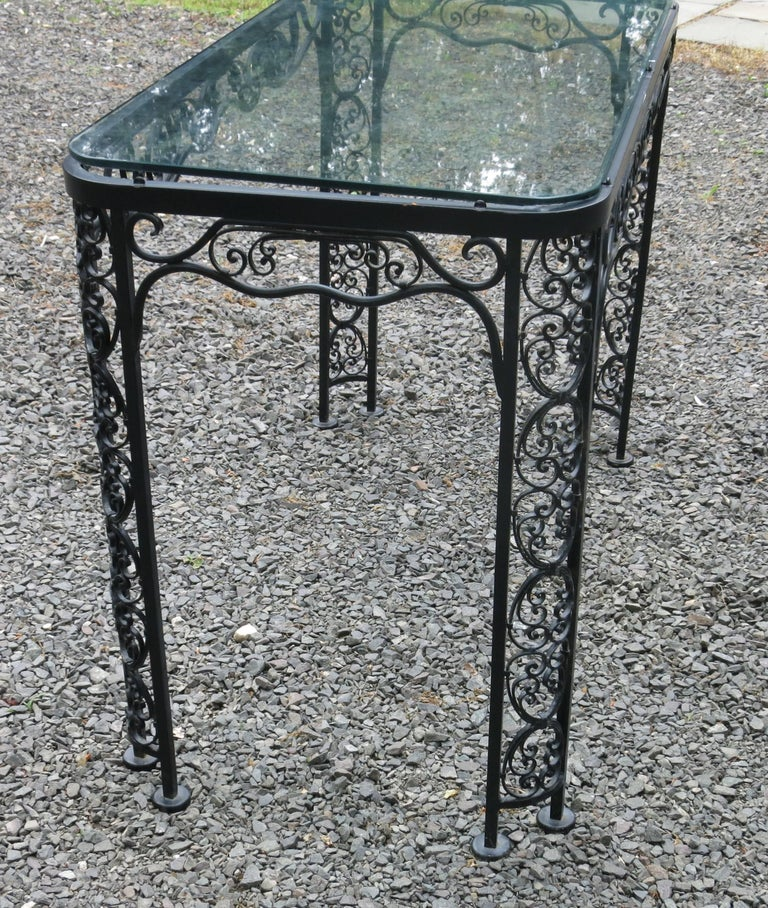 Spanish Colonial Woodard Andalusian Pattern Console, Server Vintage Patio Furniture For Sale