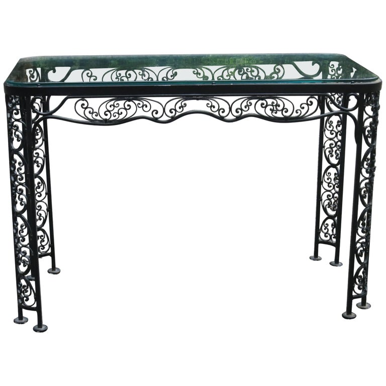 Woodard Andalusian Pattern Console, Server Vintage Patio Furniture For Sale