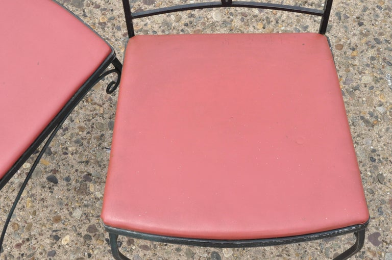 Woodard Chantilly Rose Green Garden Patio Dining Set of 4 Chairs & Square Table 4