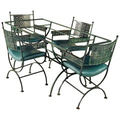 Woodard Dining Table and Four Armchairs
