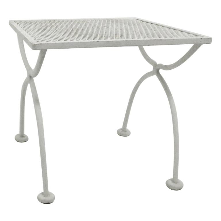 Woodard Garden Patio Side Table At 1stdibs, Metal Patio End Tables