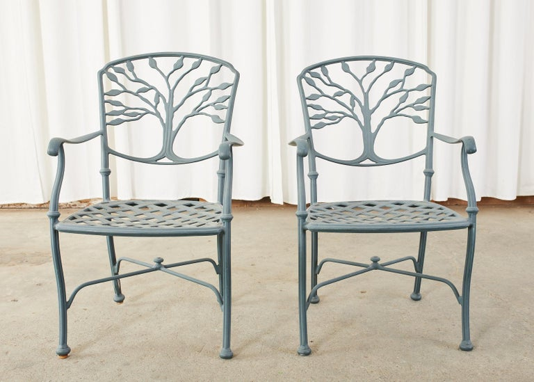 Woodard Heritage Tree of Life Aluminum Garden Dining Set For Sale 7