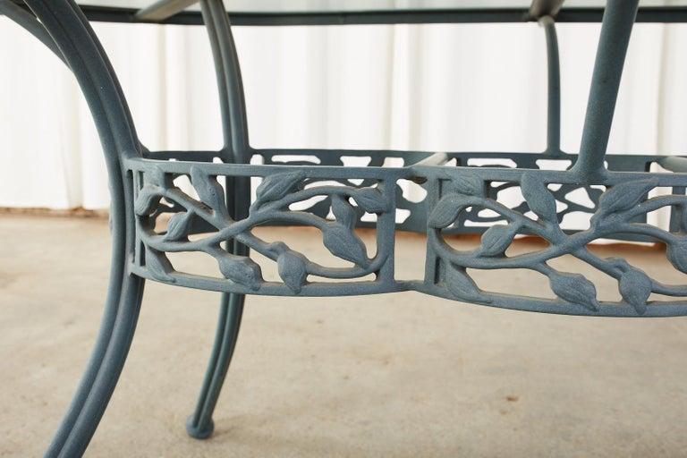 Woodard Heritage Tree of Life Aluminum Garden Dining Set For Sale 2